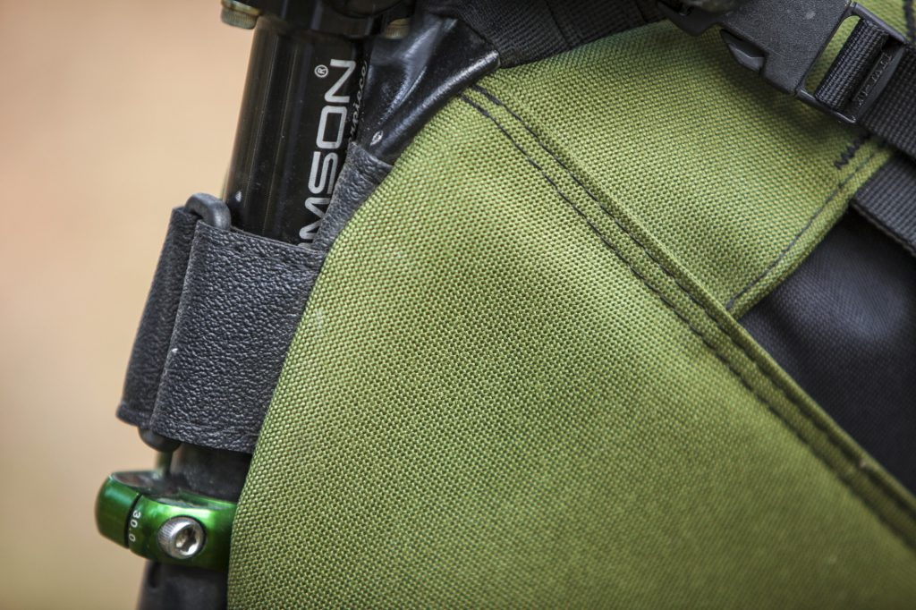 Close-up of Cordura fabric, Cordel saddle bag, Thomson Masterpiece seatpost