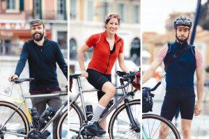 Matthieu Lifschitz, Elisabeth Lavail, Gregory white et leurs vélos