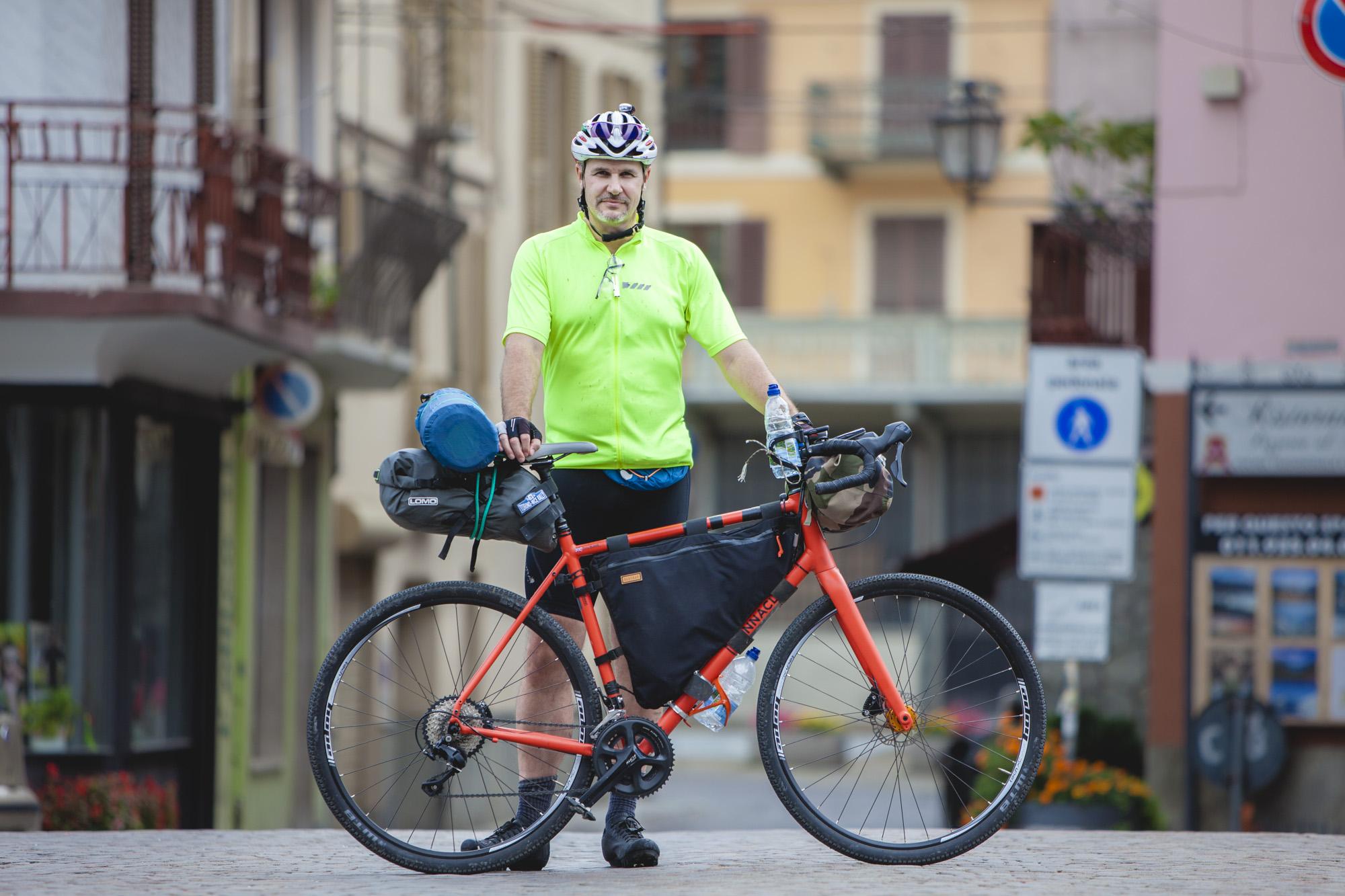 Torino-Nice Rally bikepacker